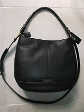 NEW TIGNANELLO BRAIDED BEAUTY HOBO   LEATHER  WOMENS  BAG   T56315   BROWN/BLK
