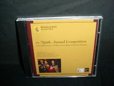 The Ninth Competition in the Performance of Music from Spain Latin Music CD New