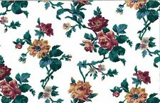 COTTAGE FLORAL Vintage Wallpaper Red Yellow Green Eisenhart GP09402 DOUBLE ROLLS