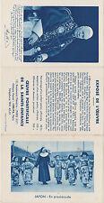 IMAGE PIEUSE/HOLY CARD SANTINI/CALENDRIER 1955/RELIGIEUSE-ENFANTS JAPON-KIMONO