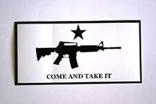 Wholesale Lot of 6 AR-15 M4 Come and Take it Decal Bumper Sticker