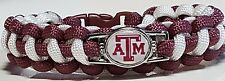 Texas A & M University Aggies Burgundy & White Paracord Bracelet or Lanyard