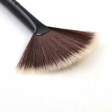 1x Professional Fan Makeup Brush Face Powder Cheek Highlighter Bronzer Kit Brown