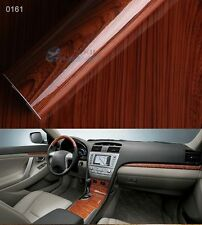 Hot Wood Grain Textured Vinyl Self-adhesive Car Wrap Decals Sticker 30x124cm New