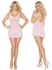 Plus Size Lingerie XL-2X-3X Sexy Clothes intimate Lenceria Pink Lingere Dress