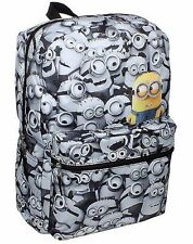 Despicable Me Minions Backpack School Bag COMICS Print Minion All over NEW