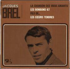"""JACQUES BREL """"LA CHANSON DES VIEUX AMANTS"""" 60'S EP BARCLAY 71118"""