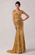 2014 Glam Long Mermaid Evening Party Bridesmaid Prom Corset Dresses Ball Gown