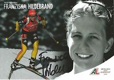 Autogramm AK Franziska Hildebrand Biathlon Weltmeisterin 2015 handsigniert AL