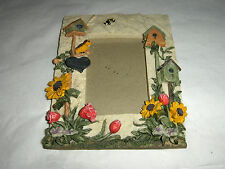 Resin Photo Frame with Birdhouses, Pretty Bird and Flowers