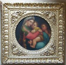 MADONNA OF THE CHAIR - AFTER RAFAEL - GOLD GILT FRAME - NO BUYERS COMMISSION