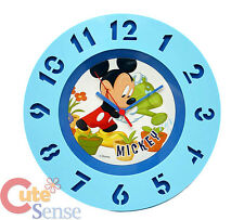 Disney Mickey Mouse Wall Clock Kids Room Watch  - Gardening 12.5""