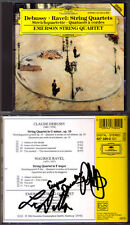 EMERSON STRING QUARTET Signed DEBUSSY & RAVEL Streichquartett DG UK CD Quartett