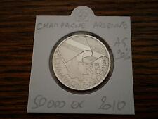 Pièce 10 euros régions CHAMPAGNE ARDENNE 2010 sous ETUI en argent 90%. 50 000 EX