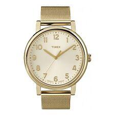 Nuevo PVP £ 59.99 Timex T2N598 señoras reloj de oro Premium Originals