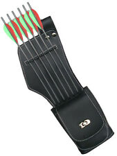 SYNTHETIC LEATHER SIDE/HIP RIGHT HAND QUIVER WITH POCKET ARCHERY PRODUCTS SAQ142