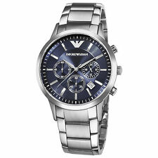 Emporio Armani Classic Watch Navy Blue / Silver Quartz Analog Men's Watch AR2448