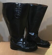 Size  10 E EXTRA WIDE 21 INCH WIDE CALF!  Men's Motorcycle Patrol Boots