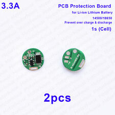 2pcs 3A 3.7v Li-ion Lithium 14500 18650 Battery 4.2v Charge Protection Board PCB