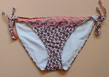 Athleta Bikini Bottom Bells Beach Peach Taupe White Paisley Print Large NWT New