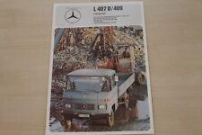 178384) Mercedes L 407 D 409 - Fahrgestell - Prospekt 1975