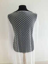 White Spotted Mesh Jersey Dressmaking Fabric