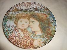Tammy and Kaile Jo HIBEL Mother's Day Art Plate 1995 Ltd Ed No 2915