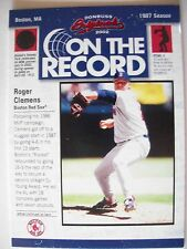 2002 DONRUSS ORIGINALS ON THE RECORD ROGER CLEMENS # OR-8 RED SOX   BOX 48