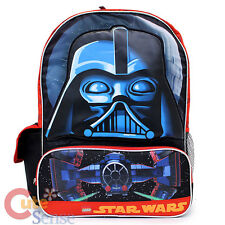 "Lego Star Wars Darth Vade  School Backpack  16"" Large Boys Book Bag"