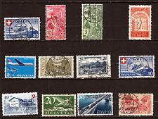 SUISSE :1939/1949 Expo (FR-DM) pont,avions,paysages,sujet divers  F35