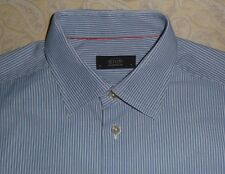 ETON OF SWEDEN Ganghester Mens Dress Shirt Cotton Blue Stripe Top size 16 / 41