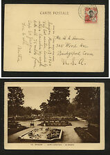Indo  China  103 on post  card  to   US         SSS0412