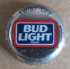 BUD LIGHT TWIST OFF BUDWEISER ANHEUSER BUSCH OBSOLETE NO DENT BEER BOTTLE CAP
