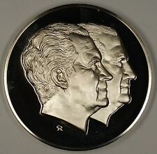 1973 Richard Nixon & Spiro Agnew Large Silver Inaugural Medal 6.3 ozt of .925