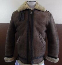 VTG SCHOTT NYC B3 Bomber Flight Jacket Coat Leather Shearling Lined Brown M