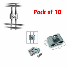 10 x JOINING CLIPS ACCESSORY FOR GRIDWALL/ GRID WALL SHOP DISPLAY MESH PANEL