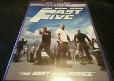 Fast Five (Blu-ray/DVD, 2011, 2-Disc Set, Rated/Unrated)