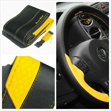 steering wheel wrap yellow cover pvc leather DIY stitch new 47017A