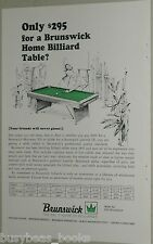 1967 Brunswick Pool Table advertisement, billiard table