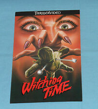 vintage ELVIRA Thrillervideo WITCHING TIME ADVERTISING POSTCARD