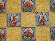 2007 Christmas Angel Angelica panel quilt fabric 1 yard 100% cotton CUTE BTY
