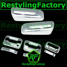 09-14 Ford F150 Chrome HALF Mirror+2 Door Handle+no keypad PSG KH+Tailgate Cover
