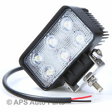 18W 6 LED Work Light Lamp Bar Flood Beam Jeep Tractor Truck Bright 12v 24v CE