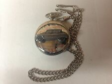 Citroen Ami 6 ref42 emblem on polished silver case pocket watch