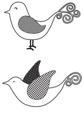 Birdies Mini Clear Stamp from Kaisercraft for Card Making (Unmounted) NEW
