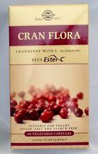 Solgar Cran flora, con la microflora Plus Ester-C - 60 cápsulas vegetales