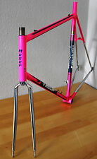 RARE FRANCESCO MOSER LEADER COLUMBUS STEEL FRAME - RENNRAD VINTAGE RACE BIKE