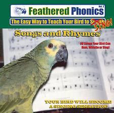 Feathered Phonics #2 CD: teach & train your bird/ parrot to talk, speak, & sing