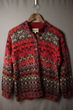 Beautiful Intiwara Pure Alpaca Hand Made Cardigan Sweater M