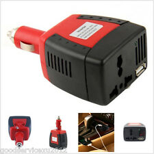 New Mini 12V DC to AC 220V Vehicle Power Inverter USB Port Charger Adapter Tool